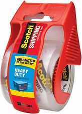 Scotch Heavy Duty Shipping Packaging Tape,1 Roll with Dispenser, Clear