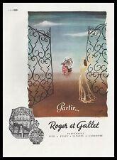 Publicité Parfum Roger & Gallet  perfume  photo vintage print ad  1946 -2h