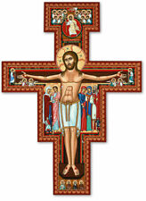 "San Damiano Wall Crucifix 10"" by Monastery Icons NEW! Cross of St. Francis"