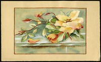 Antique Drawing-ROSE-WATERCOLOUR-BUD-Anonymous-ca. 1930