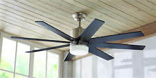"""60"""" Large Windmill LED Ceiling Fan + Remote Unique Brushed Nickel Mission Light"""