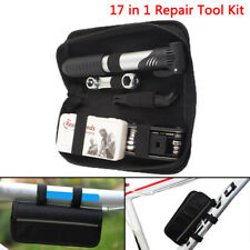 16 in 1 Multi Tire Tyre Repair Tool Kit Set Pump Bag for Cycling Bike Bicycle~GN