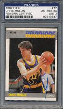 1987/88 Fleer #77 Chris Mullin PSA/DNA Certified Authentic Auto Autograph *0337