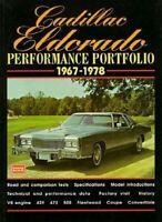 Cadillac Eldorado Performance Portfolio 1967-1978 Book