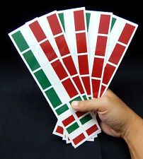 40 Removable Stickers: Italy Flag, Italian Party Favors, Decals