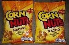 Two 4oz Bags Corn Nuts Nacho Flavor Crunchy Corn Kernels Snacks Kraft Heinz