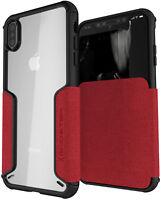 For iPhone XS Max Case   Ghostek EXEC Leather Flip Folio Card Holder Slot Wallet