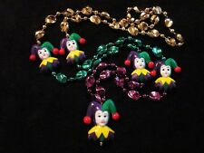 """Mardi Gras Jesters"" Pgg Sectional Necklace (B364)"