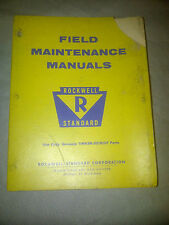 1968 1969 1964 ROCKWELL STANDARD FIELD MAINTENANCE Service Shop Manual OEM