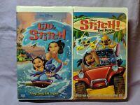 Walt Disney Movies Animated VHS Lot (Lilo & Stitch & Stitch! The Movie) Clamp