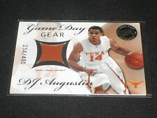 DJ AUGUSTIN TEXAS CERTIFIED AUTHENTIC PACK PULLED GAME WORN JERSEY CARD /400