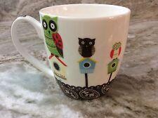 Large Coffee Mug. Owl On Bird House, Brown.16 oz. Nature's Home. Cute. New.