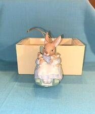 1987 Schmid Beatrix Potter Peter Rabbit Ornament Mrs. Rabbit Rocking 2 Bunnies