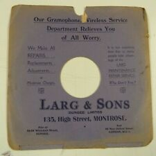 "10"" 78rpm gramophone record sleeve LARGE & SONS Dundee London"