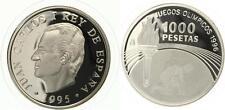 ESPAÑA: 1000 pesetas plata 1995 JUEGOS OLIMPICOS 1996 ATLANTA
