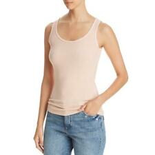 Three Dots Womens Ribbed Stretch Everyday Tank Top Shirt BHFO 9618