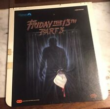 Friday the 13th Part 3 CED Capacitance Electronic Disc System Horror Untested