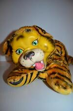 Vintage Rubber Face Plush TIGER Rare Stuffed Animal 1950's-60's
