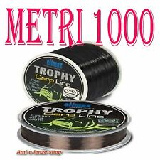 FILO NYLON NERO AFFONDANTE BOBINA METRI 1000 PESCA CARPA CARPFISHING LAGO 0,38