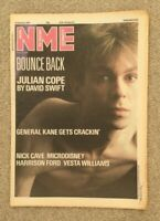 NME Magazine - January 24th 1987 Julian Cope, Nick Cave, Harrison Ford