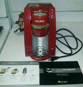 Keurig B30 Mini Personal Single Serve Brewing System Coffee Maker》Red》Excellent