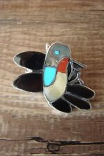 Zuni Sterling Silver Inlay Hummingbird Pin/Pendant -Ella Gia