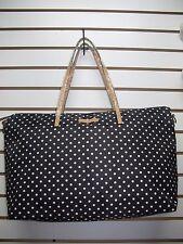 Perfumania Black POLKA DOT Large Tote Hand Bag Travel Party Handbag 14 x 5 x 18