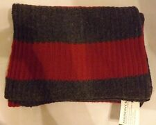Northern Cap Wool Red & Gray Scarf - New