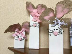 Handmade Solid Wood Easter Rabbit Decor
