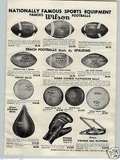 1955 PAPER AD Paul Brown Endorsed Reach Football Wilson 42T Bill Wade J Lujack