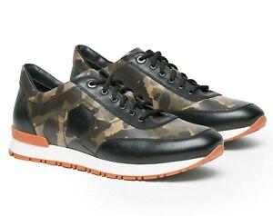 A.Testoni Men Camouflage leather Sneakers 8.5 US / 41.5 EU / 7.5 UK NEW
