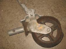 """Scaffold Wheel 8x2"""" Dense Hard Rubber Steel HUB Heavy Duty Lockable Brake  21L3"""