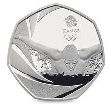 Equipo Olímpico GB Natación 50p Cincuenta Peniques Moneda - 2016