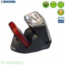 Büchel FARO PRO Bicicletta Illuminazione Set 40 LUX supporto di ricarica LED 01010315