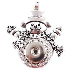 Fits Ginger Snaps SNAP PENDANT Snowman Interchangeable JEWELRY Chunk 18mm