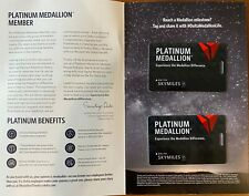 NEW- 2020 Delta Airlines Platinum Medallion Luggage Bag Tag (With Cord)