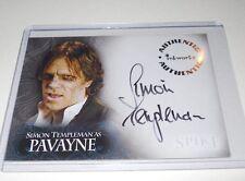 Spike Angel Buffy Autograph Trading Card Simon Templeman as Pavayne A10