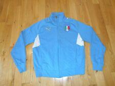 PUMA Blue ITALIA Soccer Zip Up King Sweatshirt Track Jacket Mens XXL FIGC Futbol