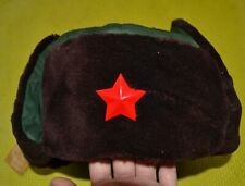 Original Chinese Military Issue PLA ARMY Winter Ushanka Hat with metal red  star a907edff6b66