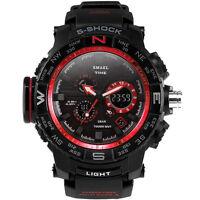 SMAEL LED Dual Display Digital Electronic Sport Wrist Watches Fashion Men Watch