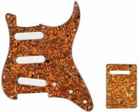 Electric Guitar Pickguard SSS & Back Plate Kit for Fender Strat Parts 3 Ply