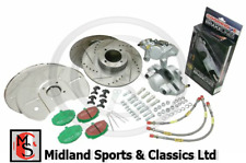 ACK2 - MGB FRONT BRAKE UPGRADE KIT - BACK PLATES, PADS, DISCS, CALIPERS & HOSES