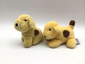 "Eden Eric Hill Spot Yellow Brown Puppy Dog Plush 5.5"" & 6"" Lot 1993 Stuffed Toy"