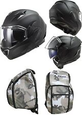 LS2 Ff900 Valiant 2 Noir Motorrad Helm Klapphelm Jethelm matt Black M