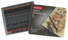 Derwent Tinted Charcoal Pencils 24 Tin