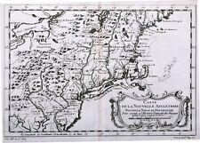 Antique map, Carte De La Nouvelle Angleterre, Nouvelle Yorck et Pensilvanie
