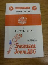 28/12/1965 Swansea Town v Exeter City  (Ink Mark On Cover). Bobfrankandelvis [Fo