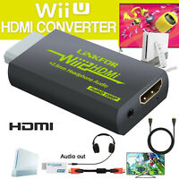 Wii to HDMI Converter 1080p Mini 3.5mm Adapter Wii2HDMI Audio HD Video Output US