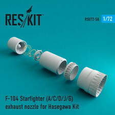 F-104 Starfighter (A/C/D/J/G) exhaust nozzle for Hasegawa 1/72 ResKit RSU72-0058