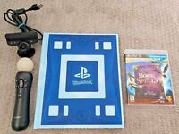 PS3 Wonderbook of Spells Hogwarts J.K. Rowling LOT + Camera + Move Controller